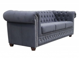 Sofa Chesterfield 3-osobowa ROY 3 BL - RP